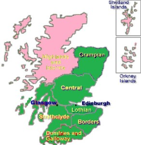 MAP HIGHLANDS AND ISLANDS